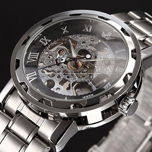 スチームパンク steampunk メンズ 腕時計 懐中時計 New Men Classic Transparent Steampunk Skeleton Mechanical Stainless Steel Watch Blackスチームパンク steampunk メンズ 腕時計 懐中時計