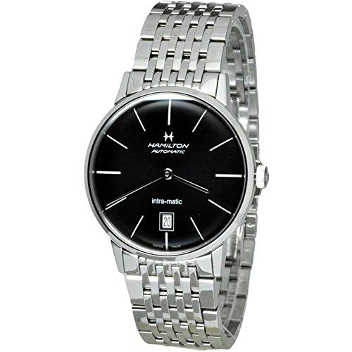 ハミルトン 腕時計 メンズ H38455131 【送料無料】Hamilton Intra-Matic Automatic Black Dial Mens Watch H38455131ハミルトン 腕時計 メンズ H38455131