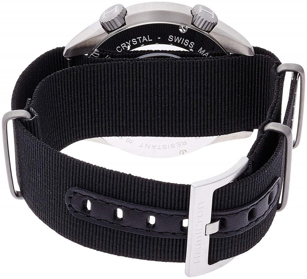 ハミルトン 腕時計 メンズ H76455933送料無料 Hamilton Men's H76455933 Khaki Aviation Automatic Stainless Steel Watch with Black Canvas Strapハミルトン 腕時計 メンズ H764559333Tl5JcKuF1