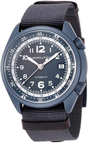 腕時計 ハミルトン メンズ H80495845 【送料無料】Hamilton Men's Khaki Aviation Swiss-Automatic Watch with Canvas Strap, Blue, 22 (Model: H80495845)腕時計 ハミルトン メンズ H80495845