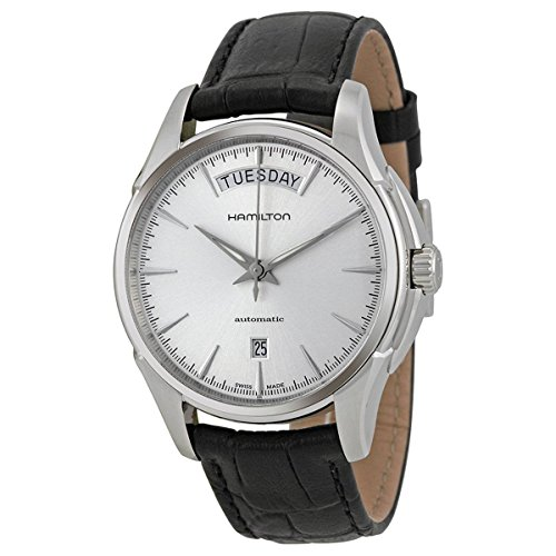 腕時計 ハミルトン メンズ H32505751 【送料無料】Hamilton Jazzmaster Automatic Silver Dial Black Leather Mens Watch H32505751腕時計 ハミルトン メンズ H32505751