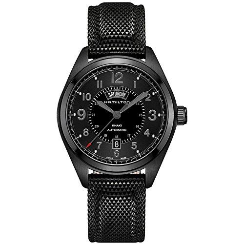腕時計 ハミルトン メンズ H70695735 【送料無料】Hamilton Men's H70695735 Khaki Field Day Date Black Automatic Watch腕時計 ハミルトン メンズ H70695735