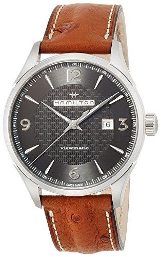 ハミルトン 腕時計 メンズ H32755851 【送料無料】Hamilton Jazzmaster Viewmatic Auto H32755851 Black/Brown Leather Analog Automatic Men's Watchハミルトン 腕時計 メンズ H32755851