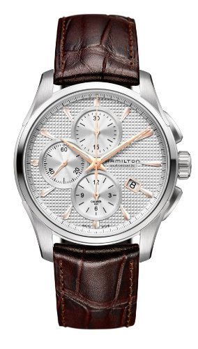 ハミルトン 腕時計 メンズ H32596551 Hamilton Jazzmaster Silver Dial SS Leather Chrono Automatic Male Watch H32596551ハミルトン 腕時計 メンズ H32596551