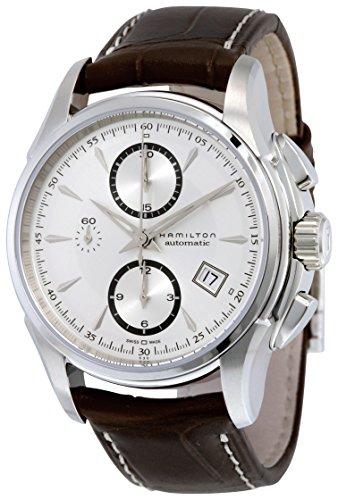 ハミルトン 腕時計 メンズ H32616553 Hamilton Men's H32616553 Jazzmaster Silver-Dial Watch with Brown Bandハミルトン 腕時計 メンズ H32616553