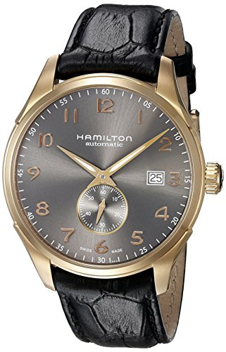 ハミルトン 腕時計 メンズ H42575783 【送料無料】Hamilton Men's 'Jazzmaster' Swiss Automatic Gold and Black Leather Casual Watch (Model: H42575783)ハミルトン 腕時計 メンズ H42575783