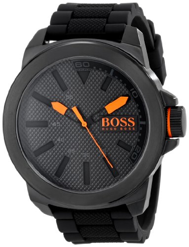 ヒューゴボス 高級腕時計 メンズ 1513004 【送料無料】HUGO BOSS Orange Men's 1513004 New York Black Stainless Steel Watchヒューゴボス 高級腕時計 メンズ 1513004