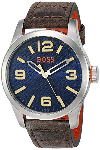 ヒューゴボス 高級腕時計 メンズ 1513352 【送料無料】HUGO BOSS Orange Men's 'PARIS' Quartz Stainless Steel and Beige Leather Casual Watch (Model: 1513352)ヒューゴボス 高級腕時計 メンズ 1513352
