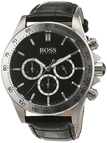 ヒューゴボス 高級腕時計 メンズ 1513178 【送料無料】Hugo Boss Chronograph Stainless Steel Mens Strap Watch Black Dial 1513178ヒューゴボス 高級腕時計 メンズ 1513178