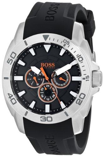 腕時計 ヒューゴボス 高級メンズ 1512950 【送料無料】BOSS Men's 1512950 Orange Stainless Steel and Silicone Casual Watch腕時計 ヒューゴボス 高級メンズ 1512950