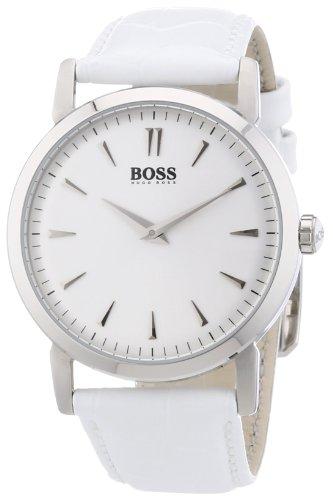 ヒューゴボス 高級腕時計 レディース 1502300 Hugo Boss Silver Dial White Leather Ladies Watch 1502300ヒューゴボス 高級腕時計 レディース 1502300