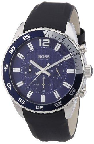 """ヒューゴボス 高級腕時計 メンズ 1512803 【送料無料】Hugo Boss Blue Dial Stainless Steel Rubber Chrono Quartz Men""""s Watch 1512803ヒューゴボス 高級腕時計 メンズ 1512803"""