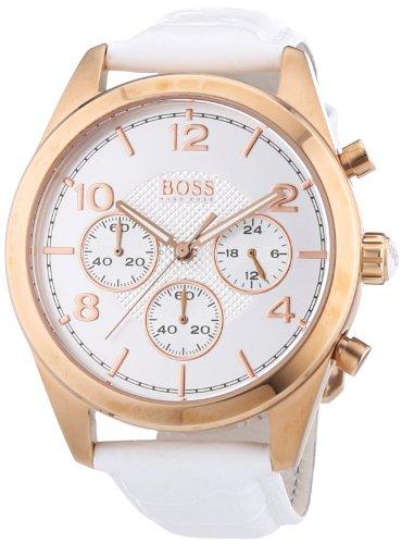 ヒューゴボス 高級腕時計 レディース 1502310 【送料無料】Hugo Boss Rose Gold Leather Chronograph Ladies Watch 1502310ヒューゴボス 高級腕時計 レディース 1502310