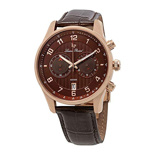 ルシアンピカール 腕時計 メンズ LP-11187-RG-04-BRW 【送料無料】Lucien Piccard Navona GMT Chronograph Men's Watch 11187-RG-04-BRWルシアンピカール 腕時計 メンズ LP-11187-RG-04-BRW