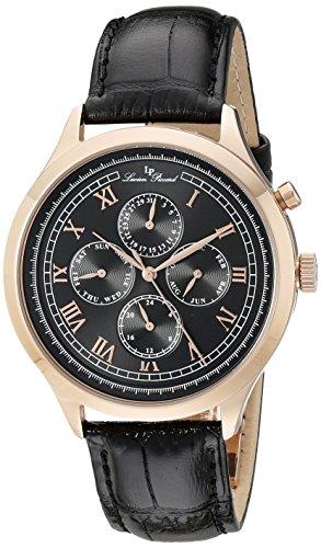ルシアンピカール 腕時計 メンズ LP-10333-RG-01 Lucien Piccard Men's LP-10333-RG-01 Besana Analog Display Japanese Quartz Black Watchルシアンピカール 腕時計 メンズ LP-10333-RG-01