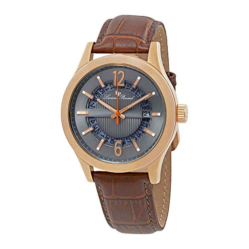 ルシアンピカール 腕時計 メンズ LP-40020-RG-014-BRW Lucien Piccard Men's 'Oxford' Quartz Stainless Steel and Brown Leather Casual Watch (Model: LP-40020-RG-014-BRW)ルシアンピカール 腕時計 メンズ LP-40020-RG-014-BRW