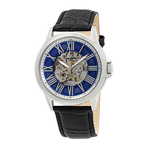 ルシアンピカール 腕時計 メンズ LP-12683A-03 Lucien Piccard Men's LP-12683A-03 Calypso Stainless Steel Automatic Watch with Black Leather Bandルシアンピカール 腕時計 メンズ LP-12683A-03