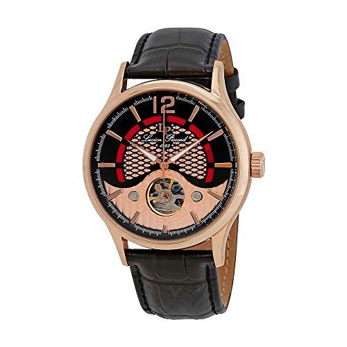 ルシアンピカール 腕時計 メンズ LP-15038-RG-01 Lucien Piccard Men's 'Transway' Automatic Stainless Steel and Black Leather Casual Watch (Model: LP-15038-RG-01)ルシアンピカール 腕時計 メンズ LP-15038-RG-01