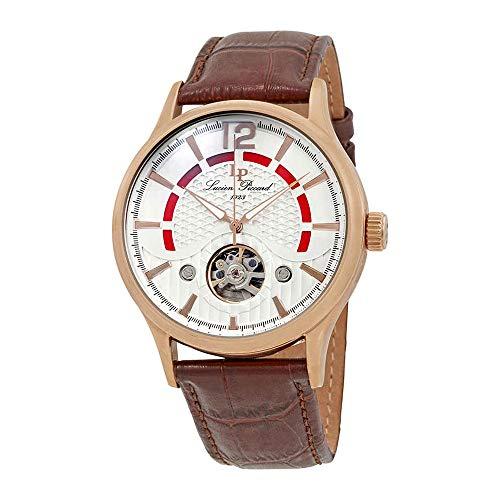 ルシアンピカール 腕時計 メンズ LP-15038-RG-02S Lucien Piccard Men's Transway Stainless Steel Automatic-self-Wind Watch with Leather Calfskin Strap, Brown, 24 (Model: LP-15038-RG-02S)ルシアンピカール 腕時計 メンズ LP-15038-RG-02S