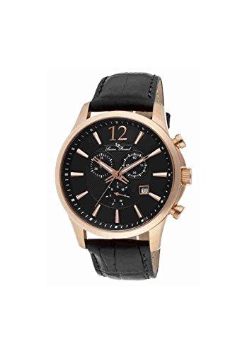 ルシアンピカール 腕時計 メンズ 11567-RG-01 【送料無料】Lucien Piccard Men's 11567-RG-01 Adamello Gold-Tone Watch with Black Leather Bandルシアンピカール 腕時計 メンズ 11567-RG-01