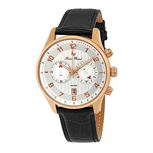 ルシアンピカール 腕時計 メンズ LP-11187-RG-02S 【送料無料】Lucien Piccard Navona GMT Chronograph Men's Watch 11187-RG-02Sルシアンピカール 腕時計 メンズ LP-11187-RG-02S