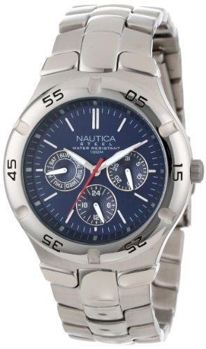 ノーティカ 腕時計 メンズ N10061 Nautica Men's N10061 Stainless Steel Round Multi-Function Watchノーティカ 腕時計 メンズ N10061