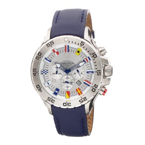 ノーティカ 腕時計 メンズ N16530G Nautica Men's N16530G NST Chronograph Blue Polyurethane Watchノーティカ 腕時計 メンズ N16530G