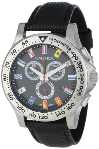 腕時計 ノーティカ メンズ N19595G 【送料無料】Nautica Men's N19595G NST 600 Chrono Flag Classic Analog with Enamel Bezel Watch腕時計 ノーティカ メンズ N19595G
