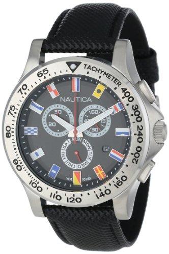 腕時計 ノーティカ メンズ N19595G 【送料無料】Nautica Men's N19595G NST 600 Chrono Flag Classic Analog with Enamel Bezel Watch腕時計 ノーティカ メンズ N19595G