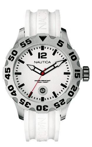 ノーティカ 腕時計 メンズ N14608G Nautica Men's N14608G BFD 100 Date White Watchノーティカ 腕時計 メンズ N14608G