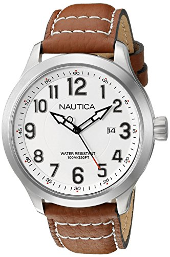 ノーティカ 腕時計 メンズ NAD10005G Nautica Men's NAD10005G NCC 01 Date Analog Display Analog Quartz Tan Watchノーティカ 腕時計 メンズ NAD10005G