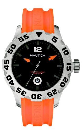 ノーティカ 腕時計 メンズ N14603G Nautica Men's N14603G BFD 100 Date Orange and Black Watchノーティカ 腕時計 メンズ N14603G