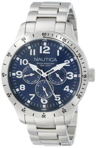 ノーティカ 腕時計 メンズ N14672G Nautica Men's N14672G BFD 101 Silver-Tone Stainless Steel Bracelet Watchノーティカ 腕時計 メンズ N14672G