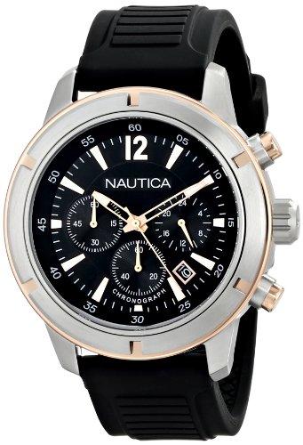 ノーティカ 腕時計 メンズ N17654G 【送料無料】Nautica Men's N17654G Analog Display Quartz Black Watchノーティカ 腕時計 メンズ N17654G