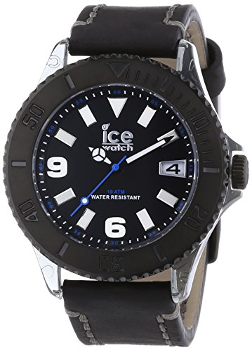 ノーティカ 腕時計 メンズ Vintage Ice-Watch VT.BK.B.L.13 Mens Ice-Vintage Black Big Leather Strap Watchノーティカ 腕時計 メンズ Vintage