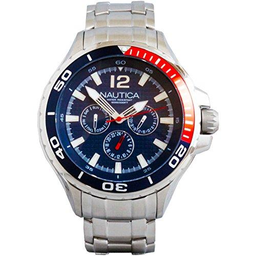 ノーティカ 腕時計 メンズ 4332875342 【送料無料】Nautica Classic Stainless Steel Analog Watch w/Enamel Bezel - Blue - N22616Gノーティカ 腕時計 メンズ 4332875342