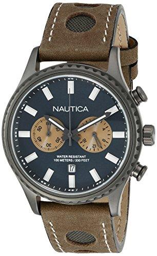 ノーティカ 腕時計 メンズ NAD19538G Nautica Men's NAD19538G NMS 02 Analog Display Quartz Brown Watchノーティカ 腕時計 メンズ NAD19538G