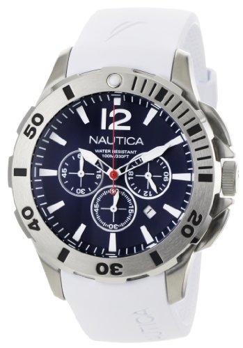 ノーティカ 腕時計 メンズ N16568G Nautica Men's N16568G BFD 101 White Resin and Blue Dial Watchノーティカ 腕時計 メンズ N16568G
