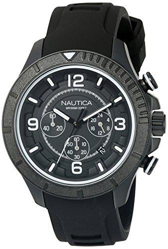 ノーティカ 腕時計 メンズ NAD19529G Nautica Men's NAD19529G NST 450 Analog Display Analog Quartz Black Watchノーティカ 腕時計 メンズ NAD19529G