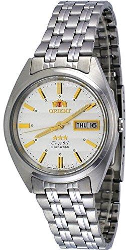 オリエント 腕時計 メンズ FAB0000DW Orient #FAB0000DW Men's 3 Star Stainless Steel Silver Dial Day Date Automatic Watchオリエント 腕時計 メンズ FAB0000DW