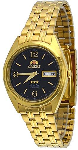 オリエント 腕時計 メンズ FAB0000CB 【送料無料】Orient FAB0000CB Men's 3 Star Standard Gold Tone Black Dial Automatic Watchオリエント 腕時計 メンズ FAB0000CB