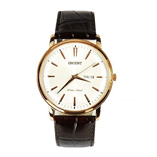 オリエント 腕時計 メンズ FUG1R005W6 【送料無料】Orient FUG1R005W6 43mm Gold Plated Stainless Steel Case Brown Calfskin Mineral Men's Watchオリエント 腕時計 メンズ FUG1R005W6