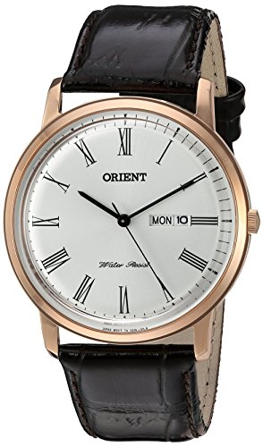 腕時計 オリエント メンズ FUG1R007W9 【送料無料】Orient Men's 'Capital Version 2' Quartz Stainless Steel and Leather Dress Watch, Color:Brown (Model: FUG1R007W9)腕時計 オリエント メンズ FUG1R007W9