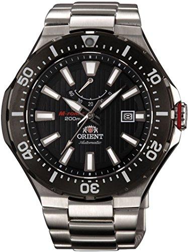 オリエント 腕時計 メンズ 【送料無料】Orient M-Force Delta Automatic Scuba Black Dive Watch with Power Reserve Meter EL07002Bオリエント 腕時計 メンズ