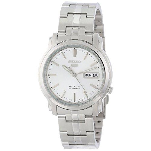 セイコー 腕時計 メンズ SNKK65 【送料無料】Seiko Men's SNKK65 Seiko 5 Automatic Stainless Steel Watch with Silver-Tone Dialセイコー 腕時計 メンズ SNKK65