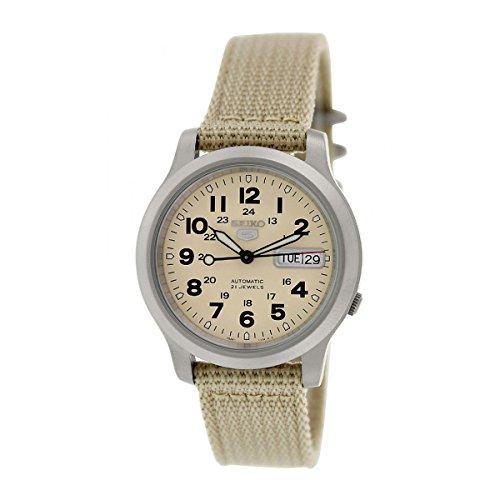 セイコー 腕時計 メンズ SNKN27K1 Seiko Men's 5 Automatic SNKN27K Beige Nylon Automatic Watch by Seiko Watchesセイコー 腕時計 メンズ SNKN27K1