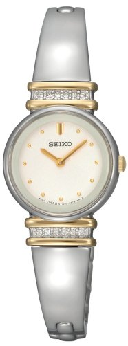 セイコー 腕時計 レディース SUJG32 【送料無料】Seiko Women's SUJG32 Crystal Bangle White Dial Watchセイコー 腕時計 レディース SUJG32