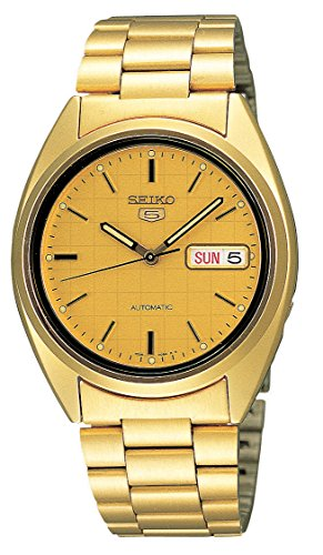 セイコー 腕時計 メンズ SNXL72 【送料無料】Seiko Men's SNXL72 Seiko 5 Automatic Gold-Tone Stainless Steel Bracelet Watch with Patterned Dialセイコー 腕時計 メンズ SNXL72