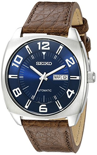 セイコー 腕時計 メンズ SNKN37 Seiko Men's SNKN37 Stainless Steel Automatic Self-Wind Watch with Brown Leather Bandセイコー 腕時計 メンズ SNKN37