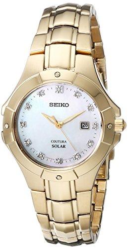 セイコー 腕時計 レディース SUT168 【送料無料】Seiko Women's SUT168 Analog Display Japanese Quartz Gold Watchセイコー 腕時計 レディース SUT168